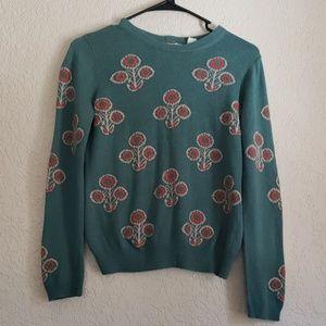 Anthropologie Cotton/Wool Blend Sweater